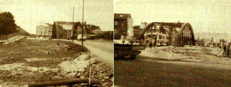 L'élargissement du pont en 1983. Photos Nord Eclair