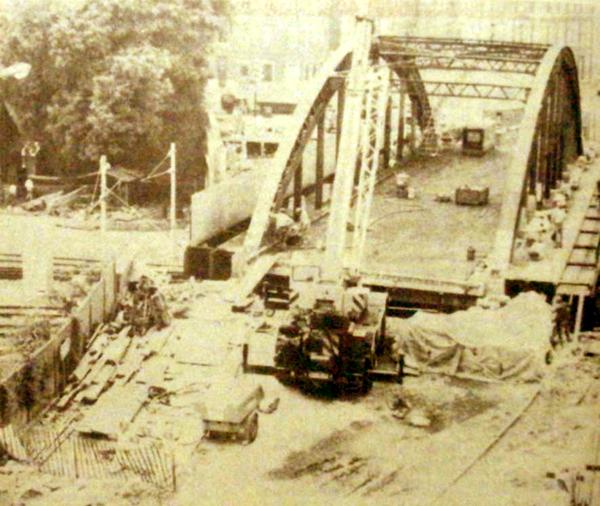 Le pont est aligné avec la rue de Lorraine Photo Nord Eclair