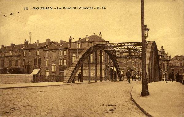 Le pont Saint Vincent d'autrefois, vu de la place de la Patrie CP Méd Rx