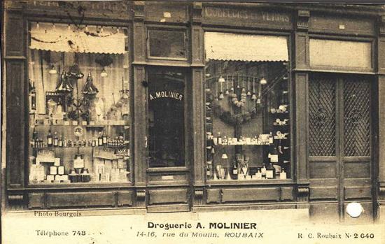 La droguerie Molinier a pris, en 1922, la suite de la serrurerie Liagre