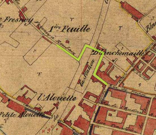 Plan cadastral de 1845