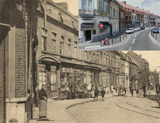 Au premier plan le carrefour de la rue du Havre et le n°80