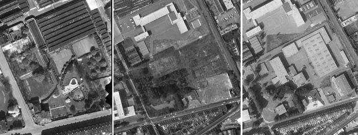 Le site en 1953, 1975 et 1981 – documents IGN