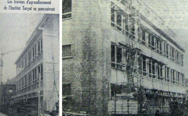 Le nouveau bâtiment en bordure de la rue de la Paix - photos Nord Matin 1961-La Voix du Nord 1962