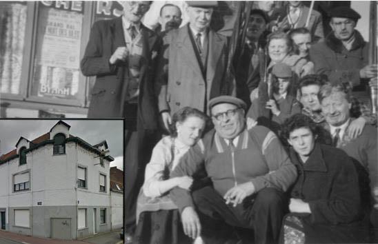 Le café des archers, en 1945 et aujourd'hui – Photos coll. Particulière et Jpm