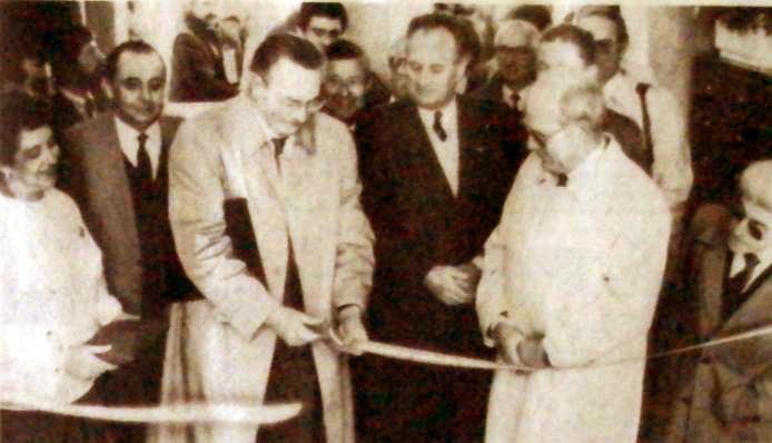 Inauguration de la résidence en novembre 1988 Photo NE
