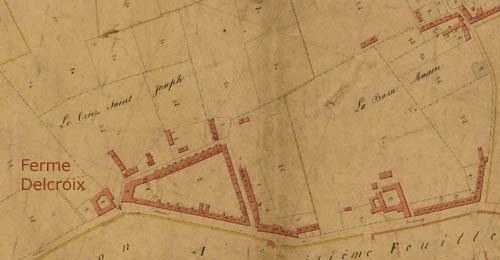 Le chemin n°1 en 1845 - archives municipales