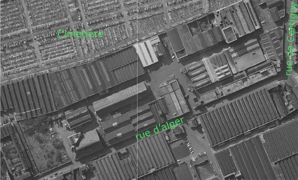 L'usine en 1965 – Document IGN