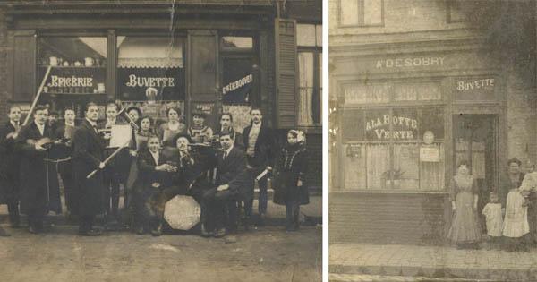 Deux estaminets de la rue, avant la première guerre – documents médiathèque de Roubaix