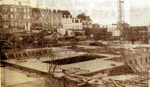 Le chantier en septembre 1977 (Photo NE)