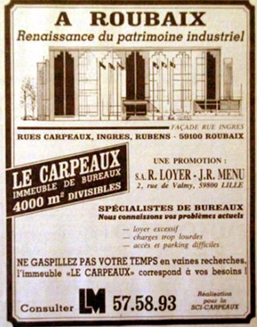 Projet immobilier Carpeaux Pub NE