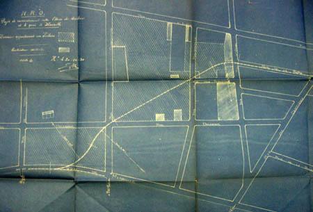 Le raccordement prévu avec le canal - Document Archives municipales 1920