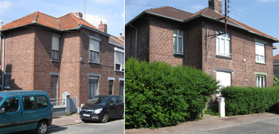 Maisons de type A en bout d'alignement et en bloc de deux – photos Jpm
