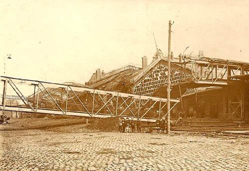 La passerelle en 1918
