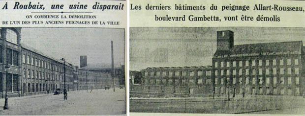 Documents Journal de Roubaix 1937 et 1941
