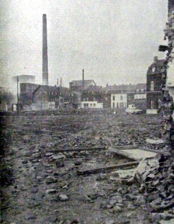 Une zone dégagée en 1974 Photo NE