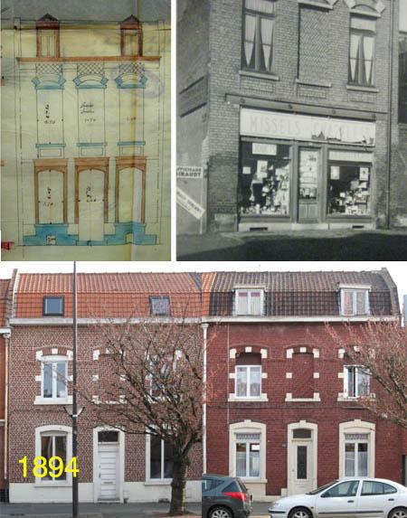 Le 104, Plan d'origine et photo 1947. En bas les 93 et 95