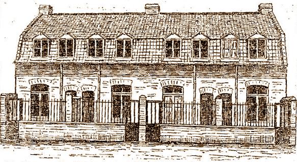 La cité Saint Henri en 1894 Dessin paru dans le Journal de Roubaix