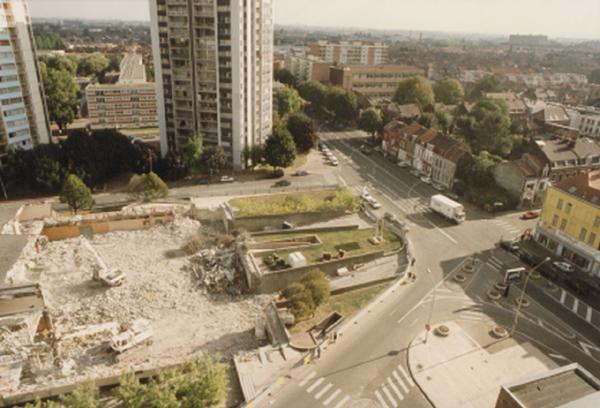 Le chantier vue du boulevard de Belfort Photo Lucien Delvarre