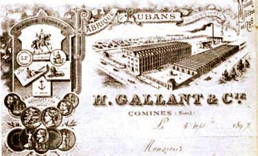 La société Henri Gallant Extrait de la Plaquette anniversaire