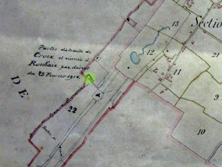 Plan cadastral de Roubaix 1914 - archives municipales
