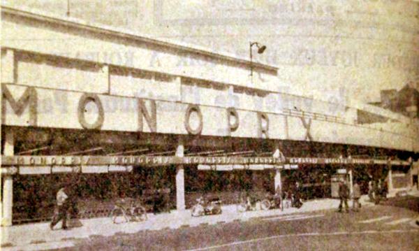 Monoprix en 1973 Pub NE