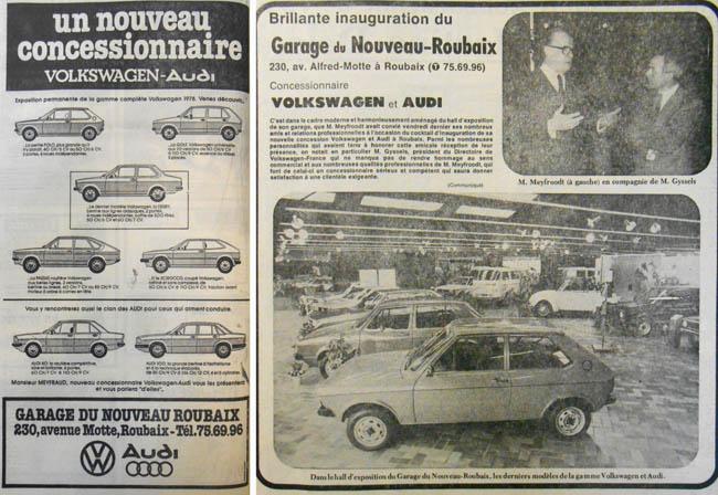 Documents Nord Matin - Janvier 1978 et Nord Eclair - Février 1978 – Archives municipales