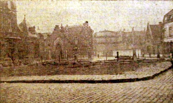 Le square en janvier 1951 Photo NE