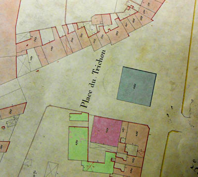 Plan cadastral 1884- Document archives municipales