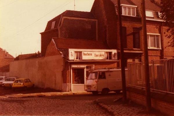 La boucherie de la rue des Récollets en 1973 Coll. Privée