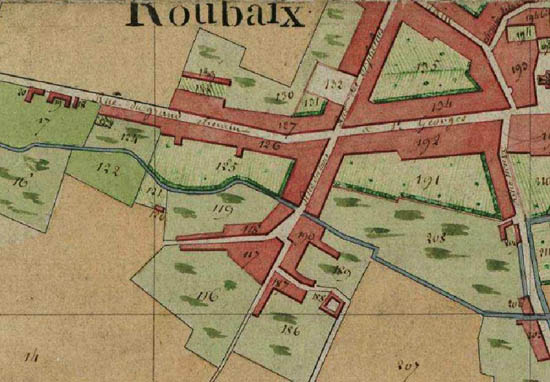 Plan cadastral 1805 – document archives municipales