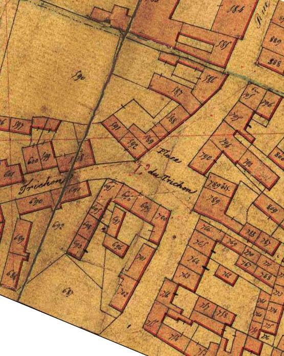 Plan cadastral de 1845 – archives municipales