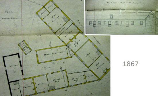 Plan des propriétés Tiers à démolir – document archives municipales