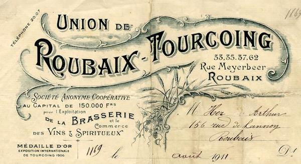 En tête Brasserie Union Roubaix Tourcoing Méd Rx