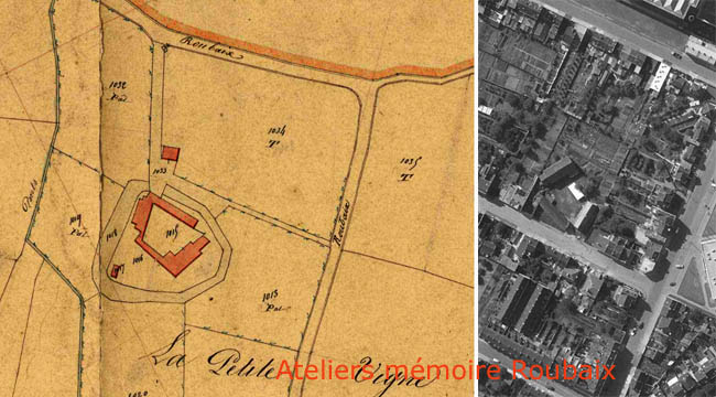 La ferme. Documents archives municipales 1845 et IGN 1950