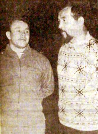 Daniel Deloor et Henri Drymala, entraîneurs du LC Nouveau Roubaix Photo NE