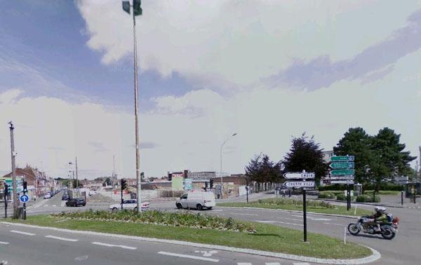 L'emplacement après démolition Extrait Google Maps