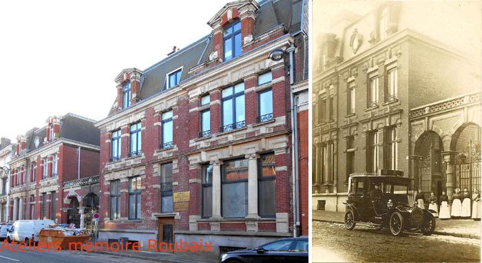 Les numéros 52 et 54 - Photo Jpm et document Médiathèque de Roubaix