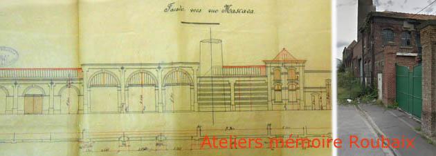 La façade de l'usine – document archives départementales – photo Jpm