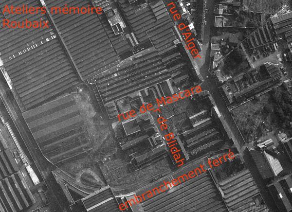 Le site après fermeture du dépôt – photo IGN 1962