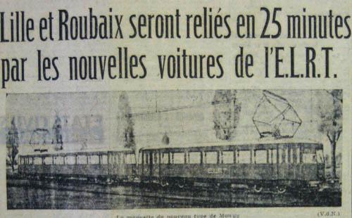 Projet de construction des motrices 500 – document La Voix du Nord 1948