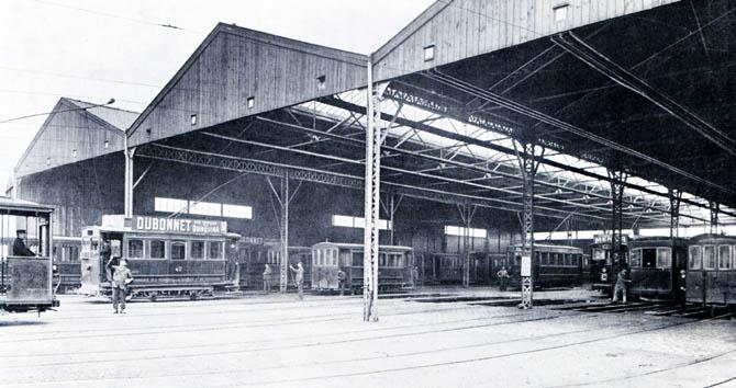 Le dépôt – document SNELRT – in Au fil des trams.