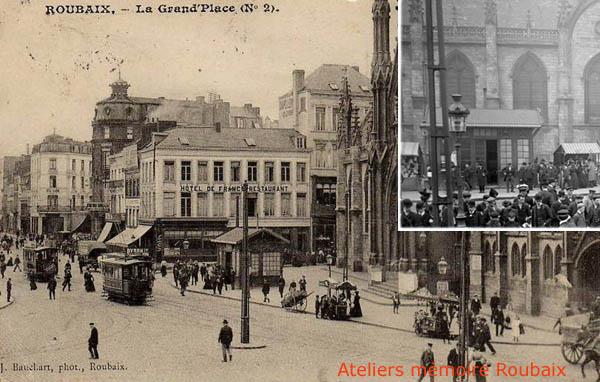 Le premier kiosque grand place – documents archives municipales et coll. particulière