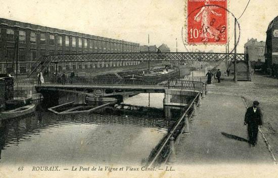 Le pont et sa passerelle – document coll. particulière