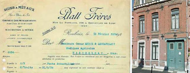 Documents médiathèque de Roubaix et coll. particulière