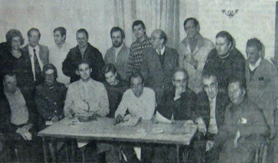 Les commerçants réunis en 1973 - Document la Voix du Nord