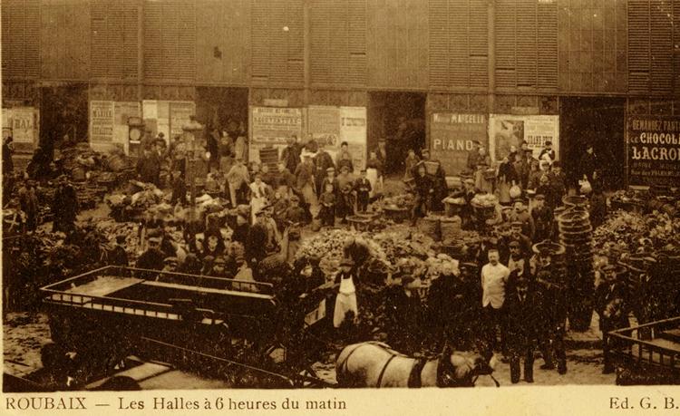 Les Halles du côté de la rue de la Halle qui conserva un temps une partie des activités CP Méd Rx