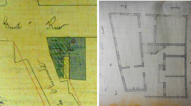 La parcelle à acquérir – document archives municipales 1866