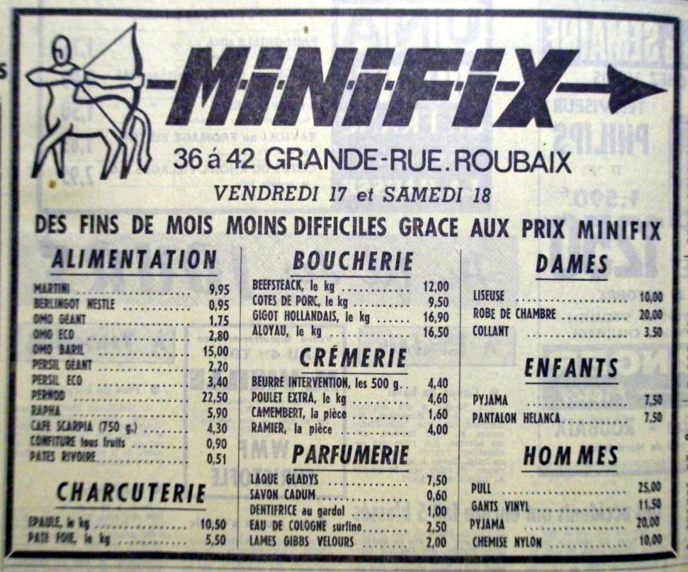 Publicité Minifix NE