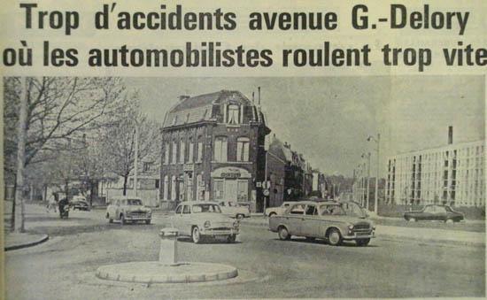 Le carrefour de la rue Henri Regnault – Document Nord Eclair 1961